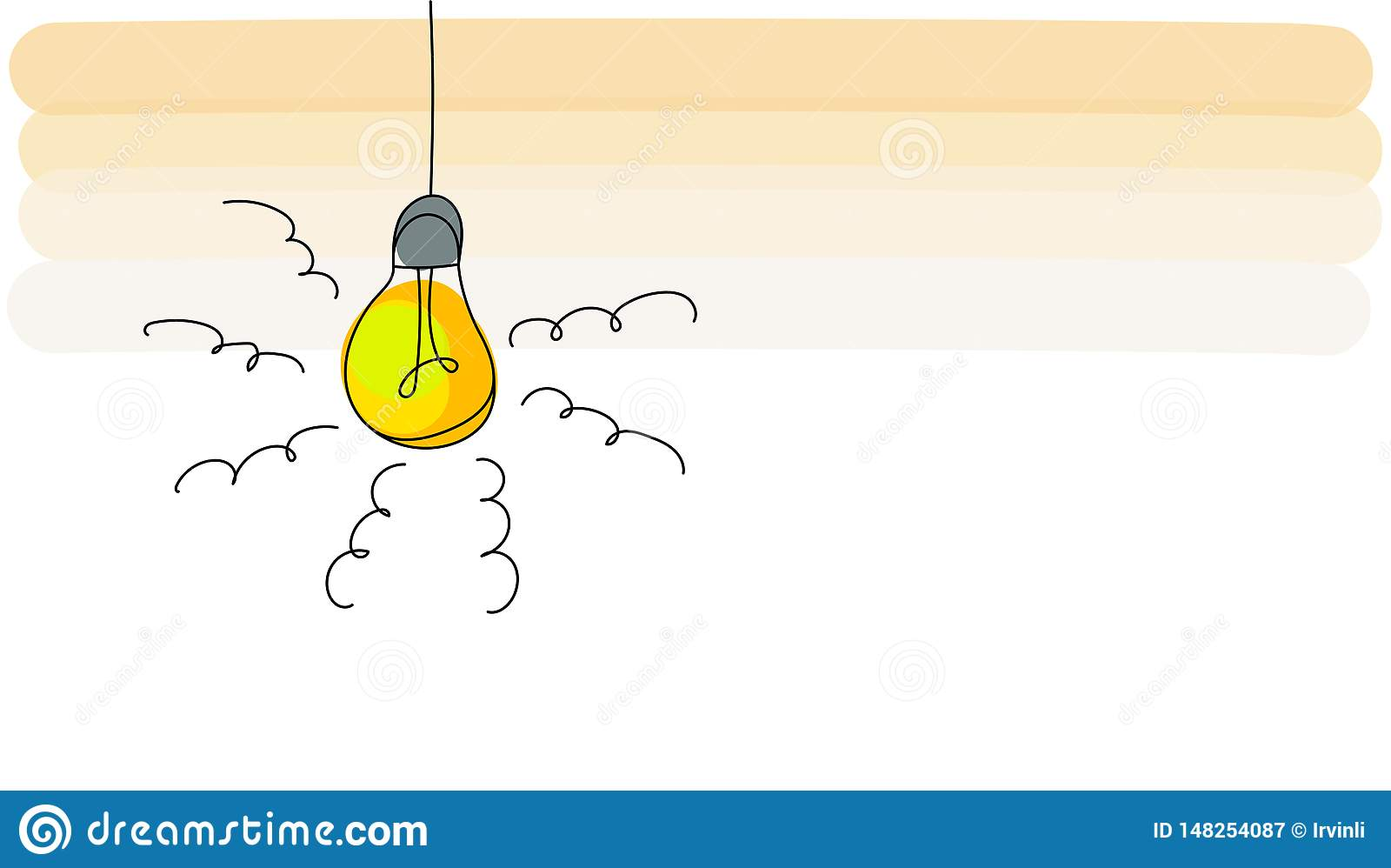 Concept d id?e avec la conception d ic?ne d ampoule, illustration de vecteur