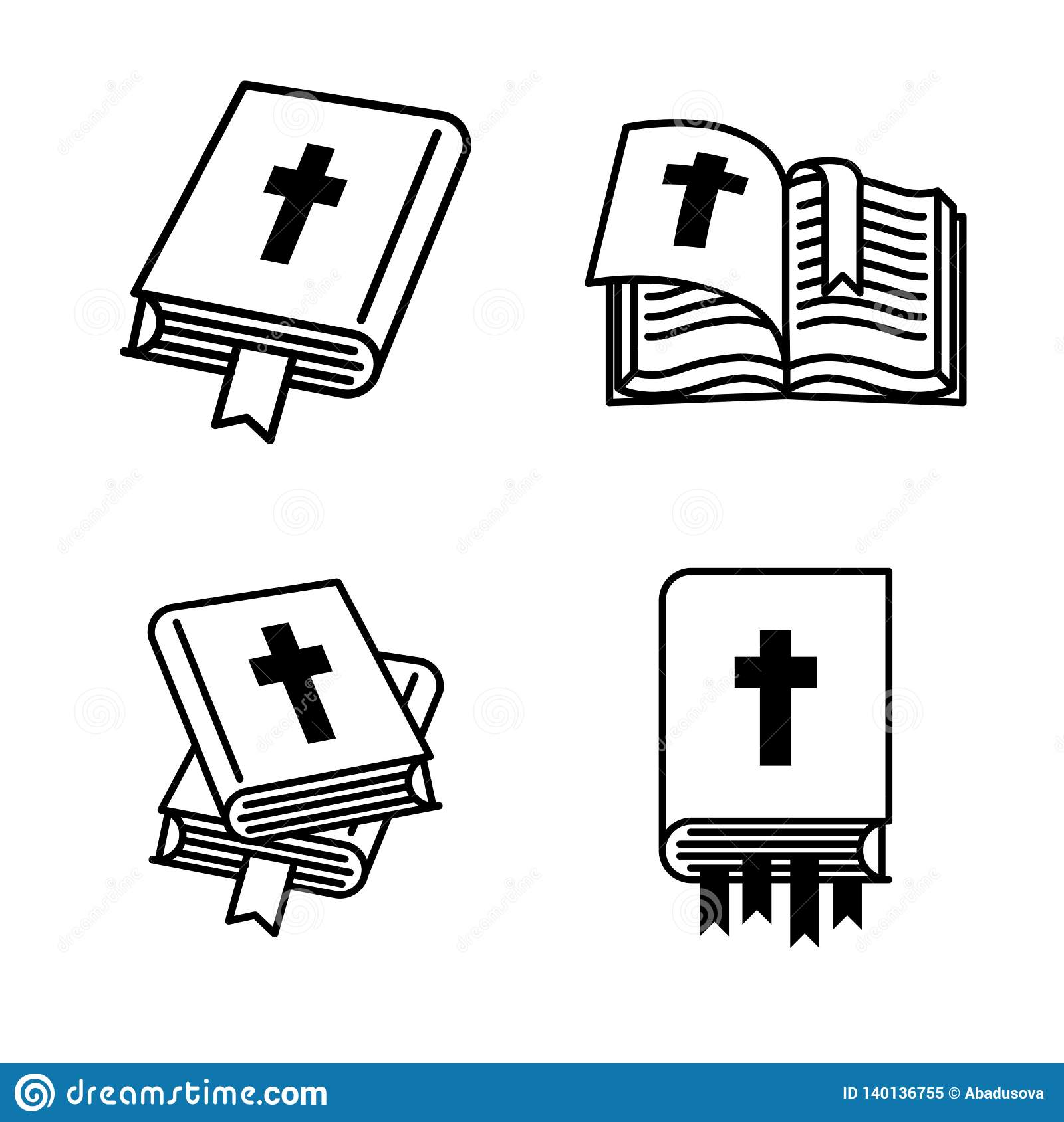 Concept D Illustration De Vecteur De Livre De Sainte Bible