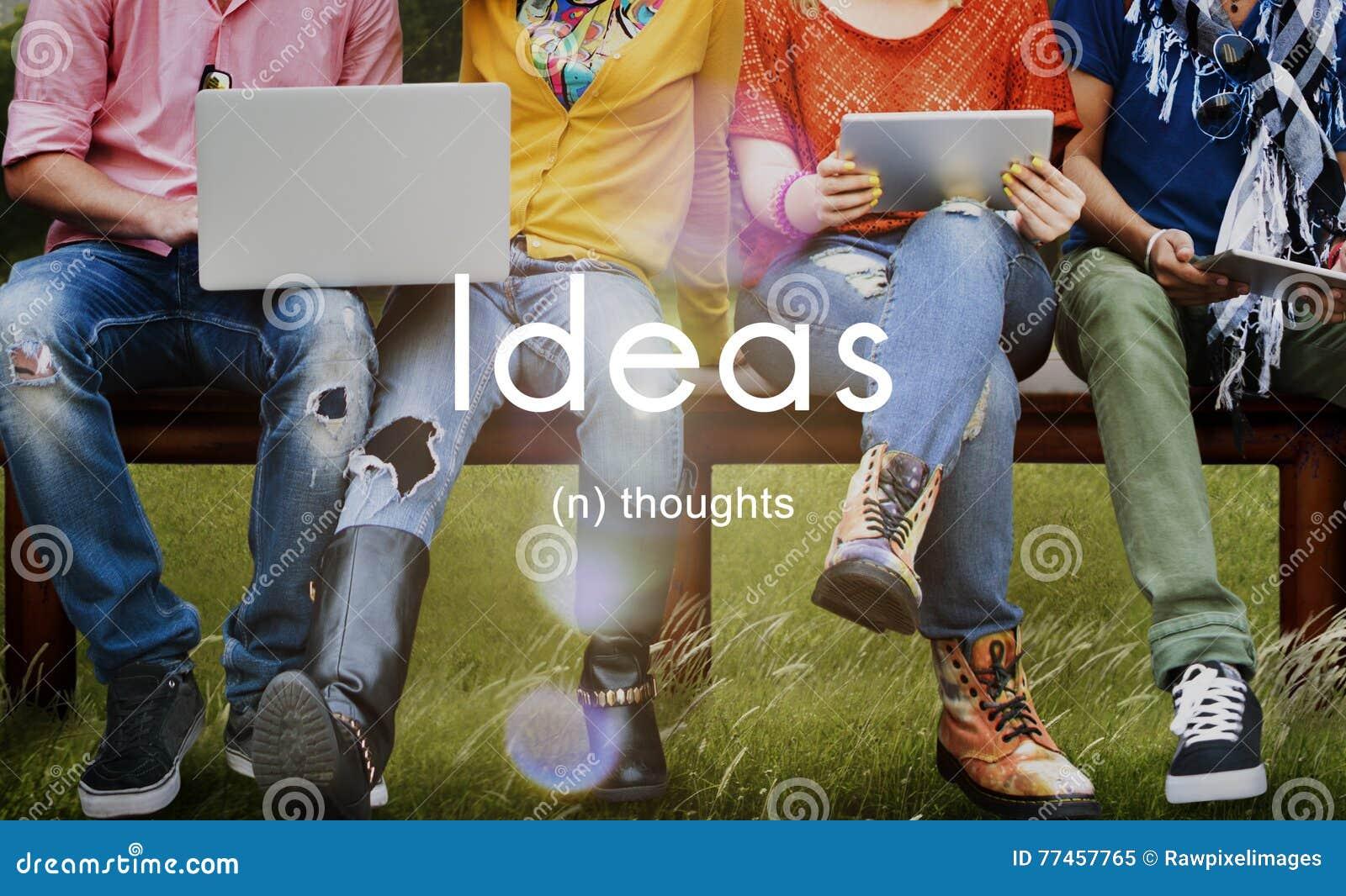 Concept d imagination d inspiration de créativité de pensées d idées