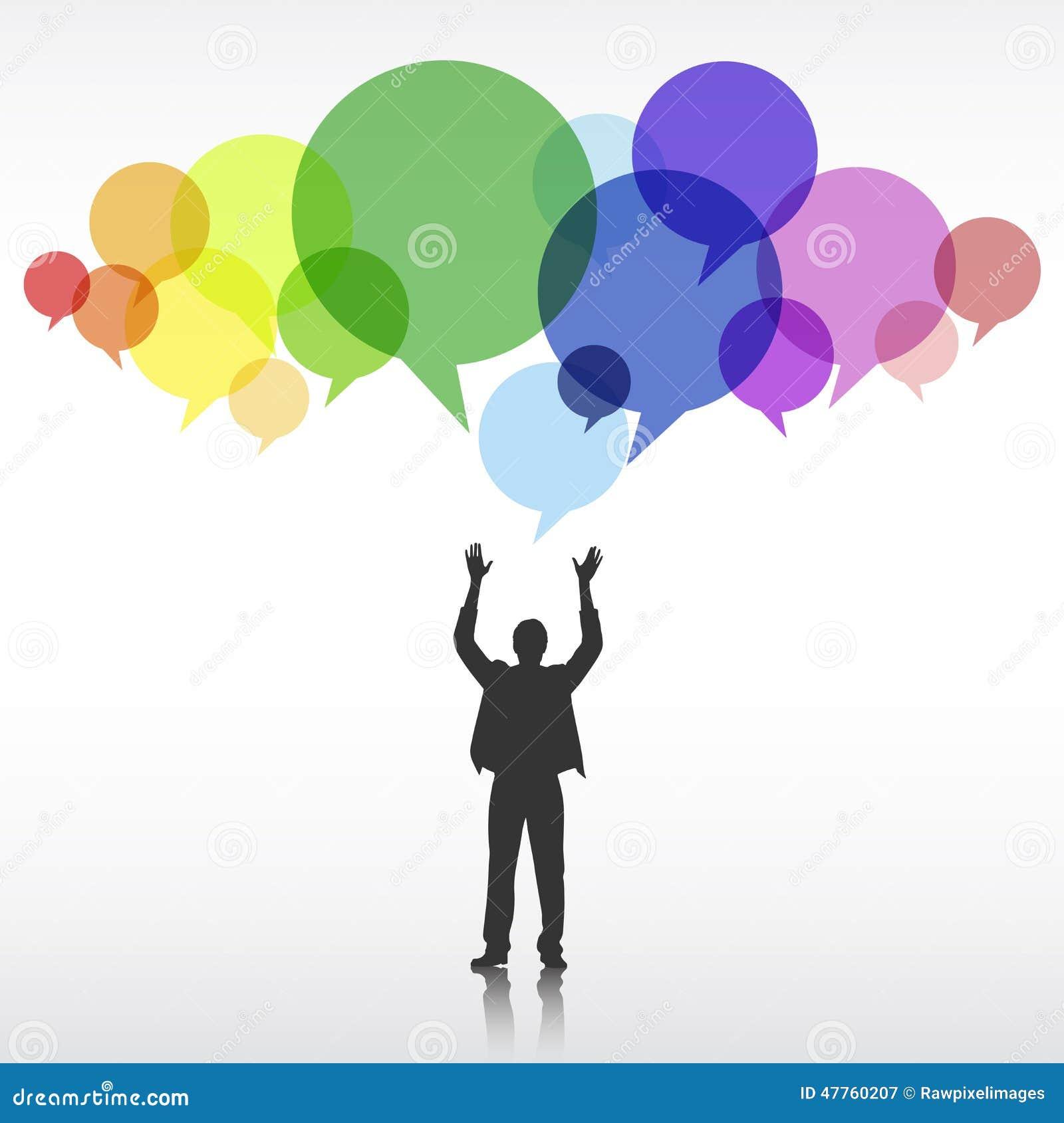Concept d innovation de Corporate Creativity Ideas d homme d affaires