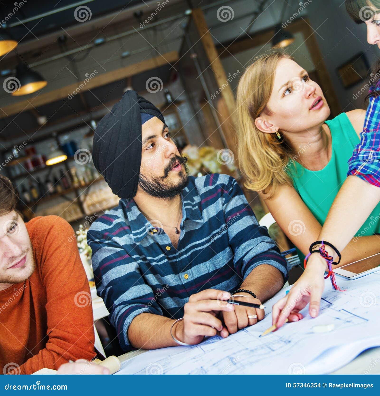 Concept d intérieur de Teamwork Brainstorming Planning de concepteur