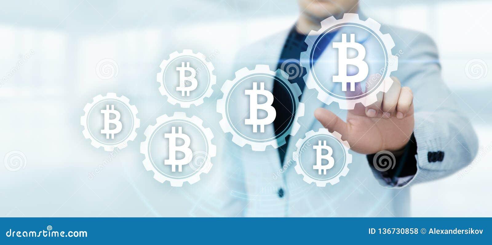 Concept d Internet d affaires de technologie de devise de la pièce de monnaie BTC de peu de Bitcoin Cryptocurrency Digital