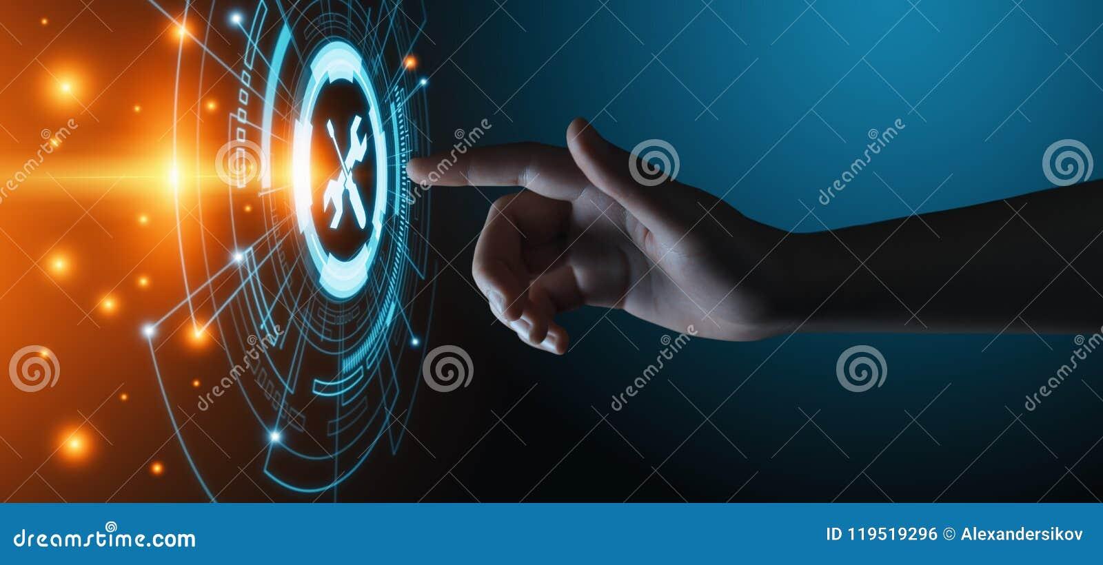 Concept d Internet de technologie d affaires de service client de support technique