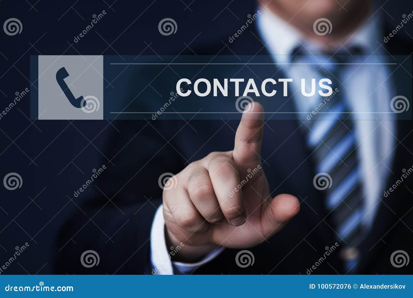 Concept d Internet de technologie d entreprise de services de soutien de contactez-nous