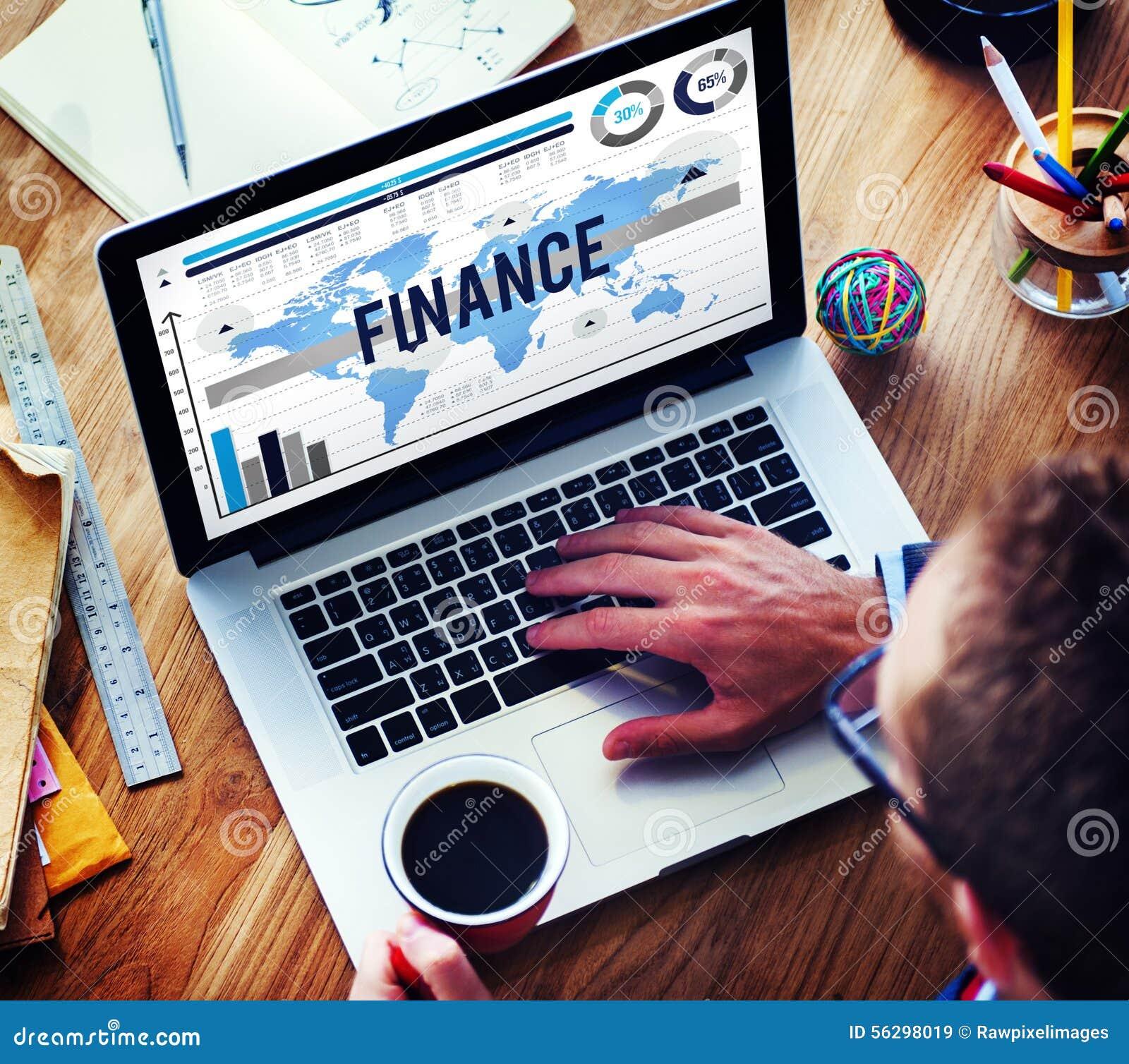 Concept d opérations bancaires d affaires de vente de finances