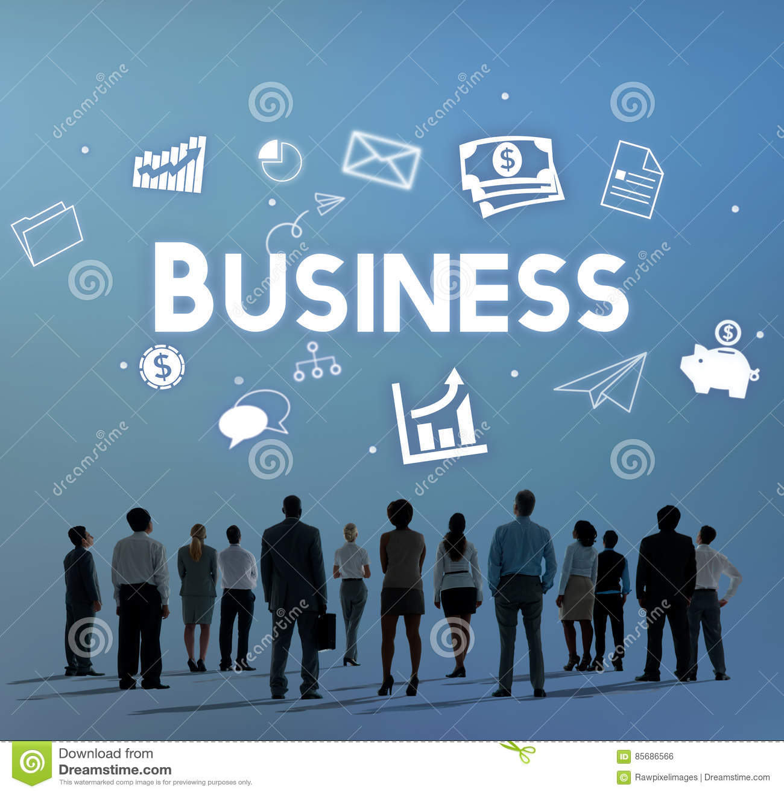 Concept d organisation de vision de stratégie de société commerciale