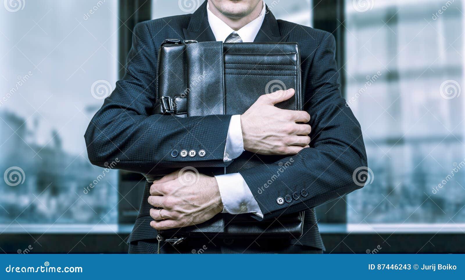 Concept d un homme d affaires soumis à une contrainte sous pression Crainte de la perte de travail