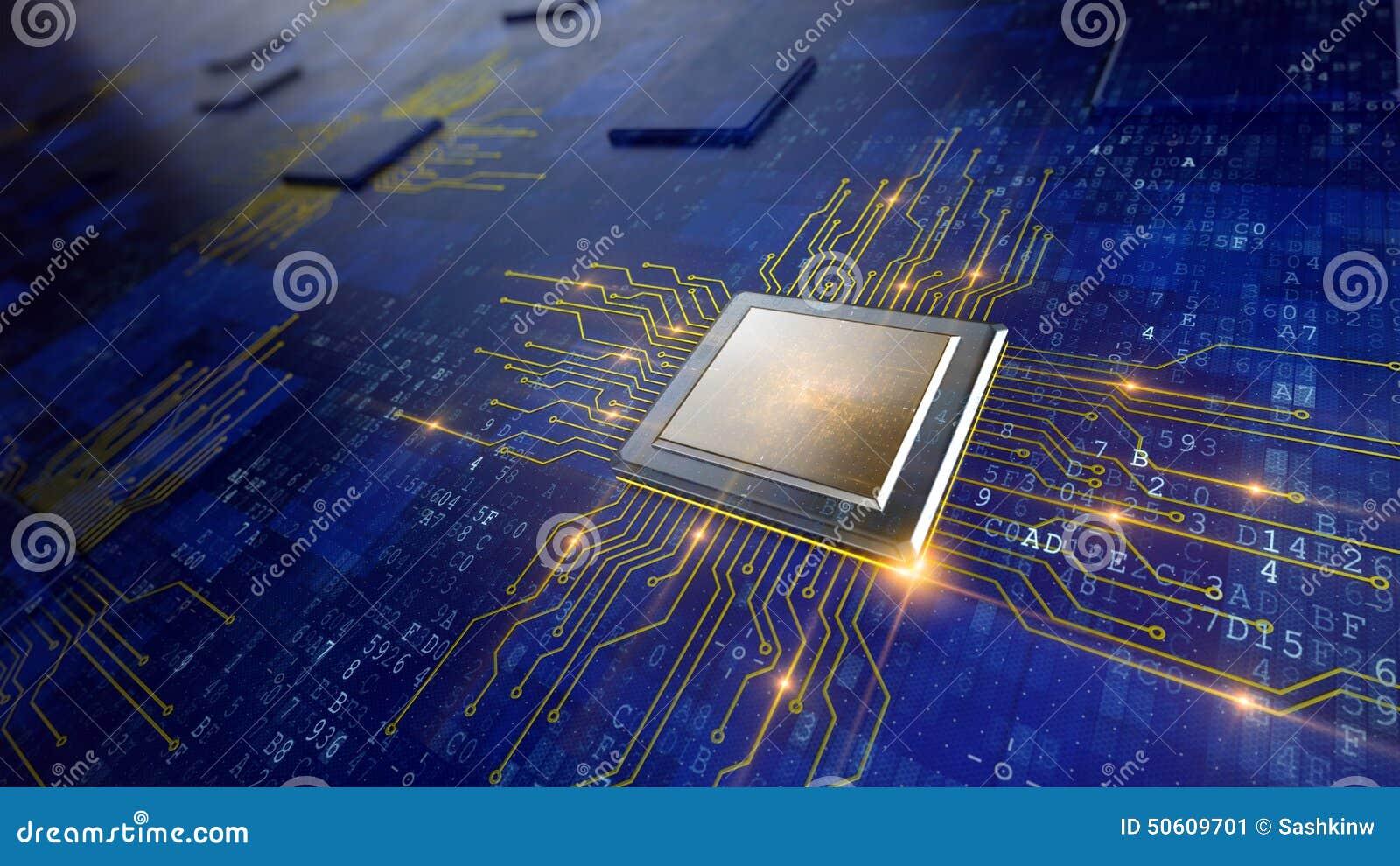 Concept d unité centrale de traitement de processeurs d ordinateur central