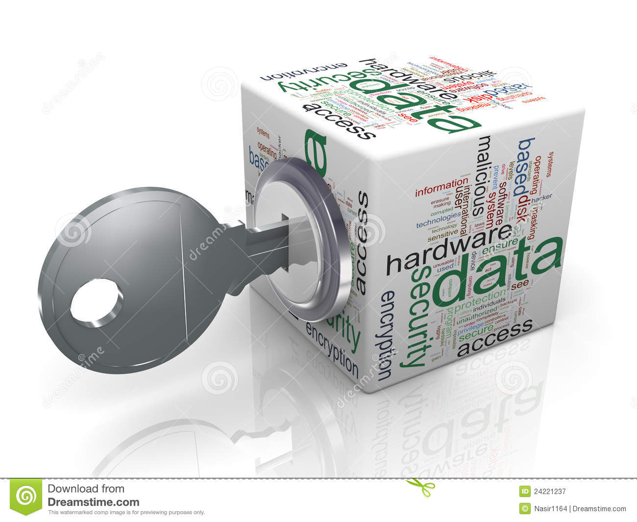 Concept of data protection stock illustration ...