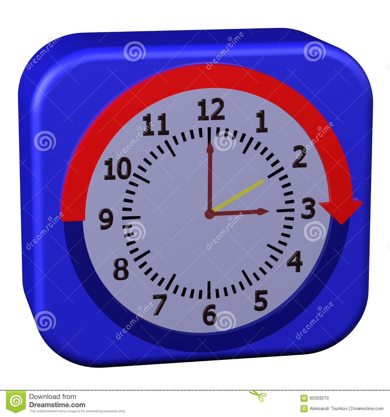 Concept daylight saving time started stock illustration for When was daylight savings time started
