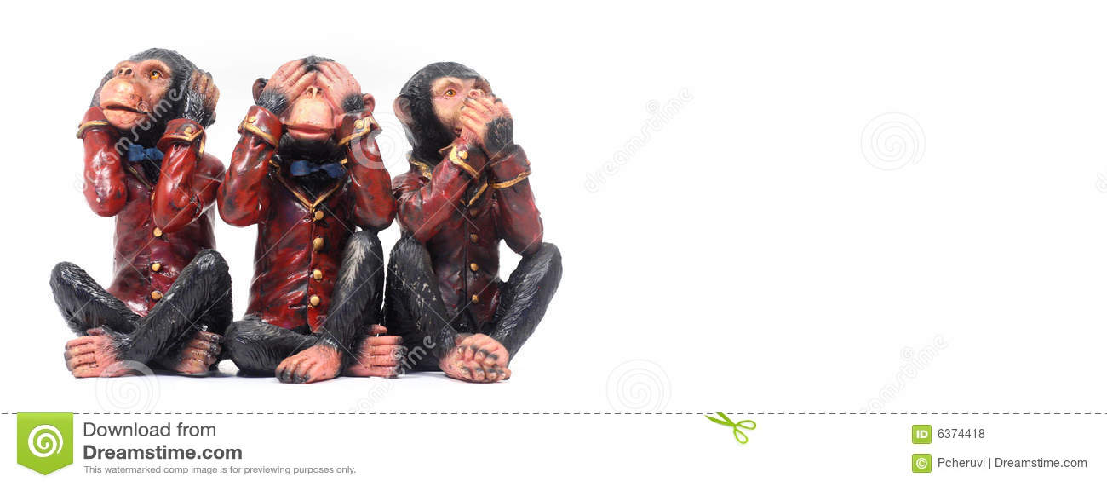 Concept de 3 singes