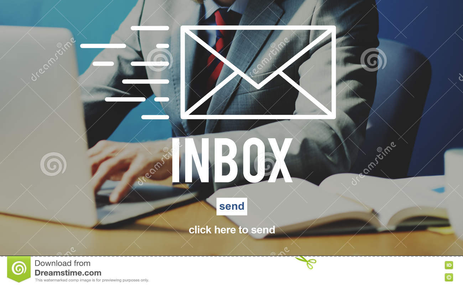 Concept de boîte de réception de message d Envelpoe de correspondance d email