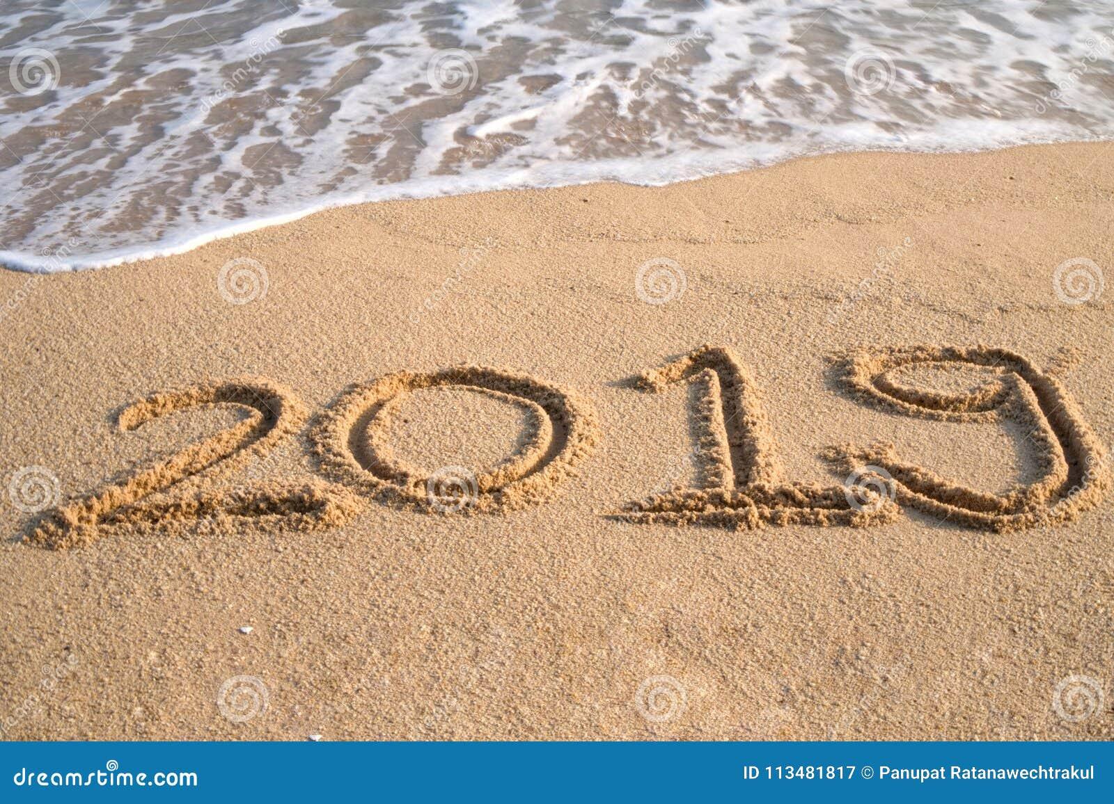 Concept 2019 de bonne année