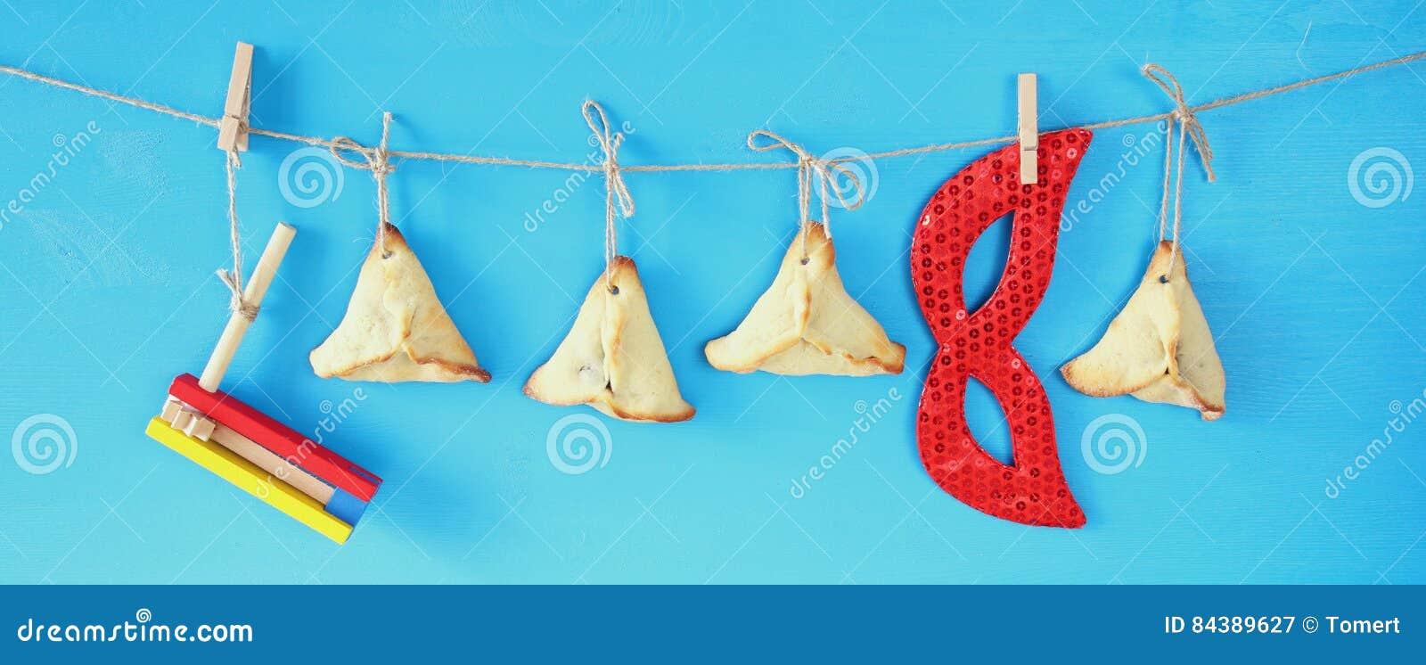 Concept de célébration de Purim et x28 ; holiday& juif x29 de carnaval ;