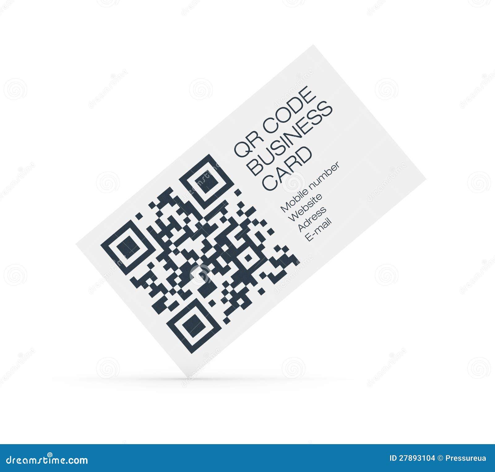 carte de visite qr code