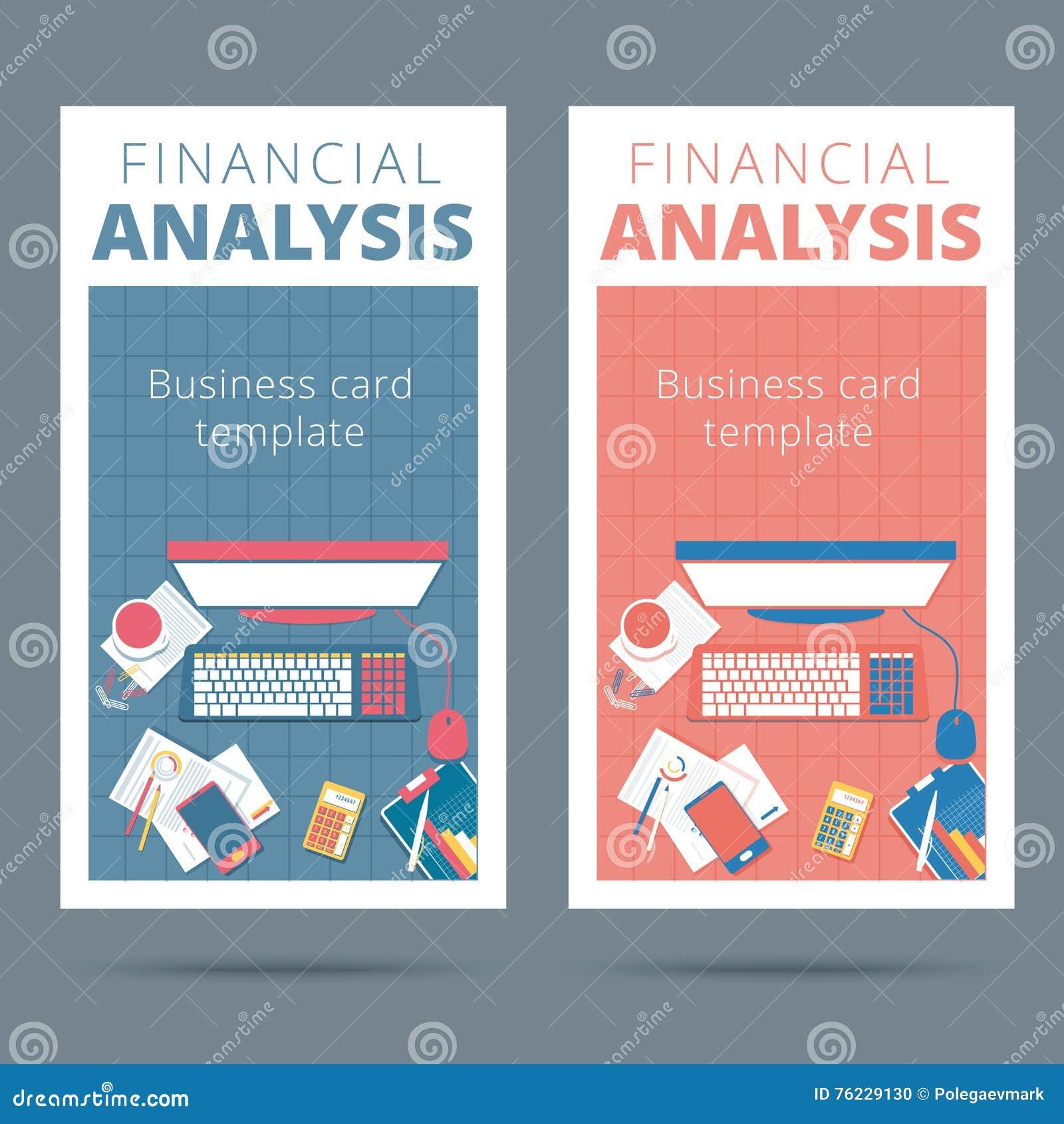 Concept De Carte Visite Professionnelle Vecteur D Analyse Financiere Audit Et Accou