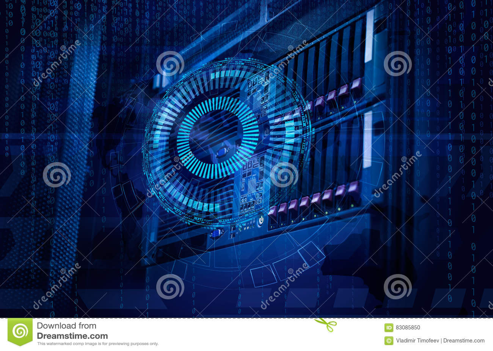 Concept de centre de traitement des données de mémoire à disque Technologie et base de données de l information sur le fond techn