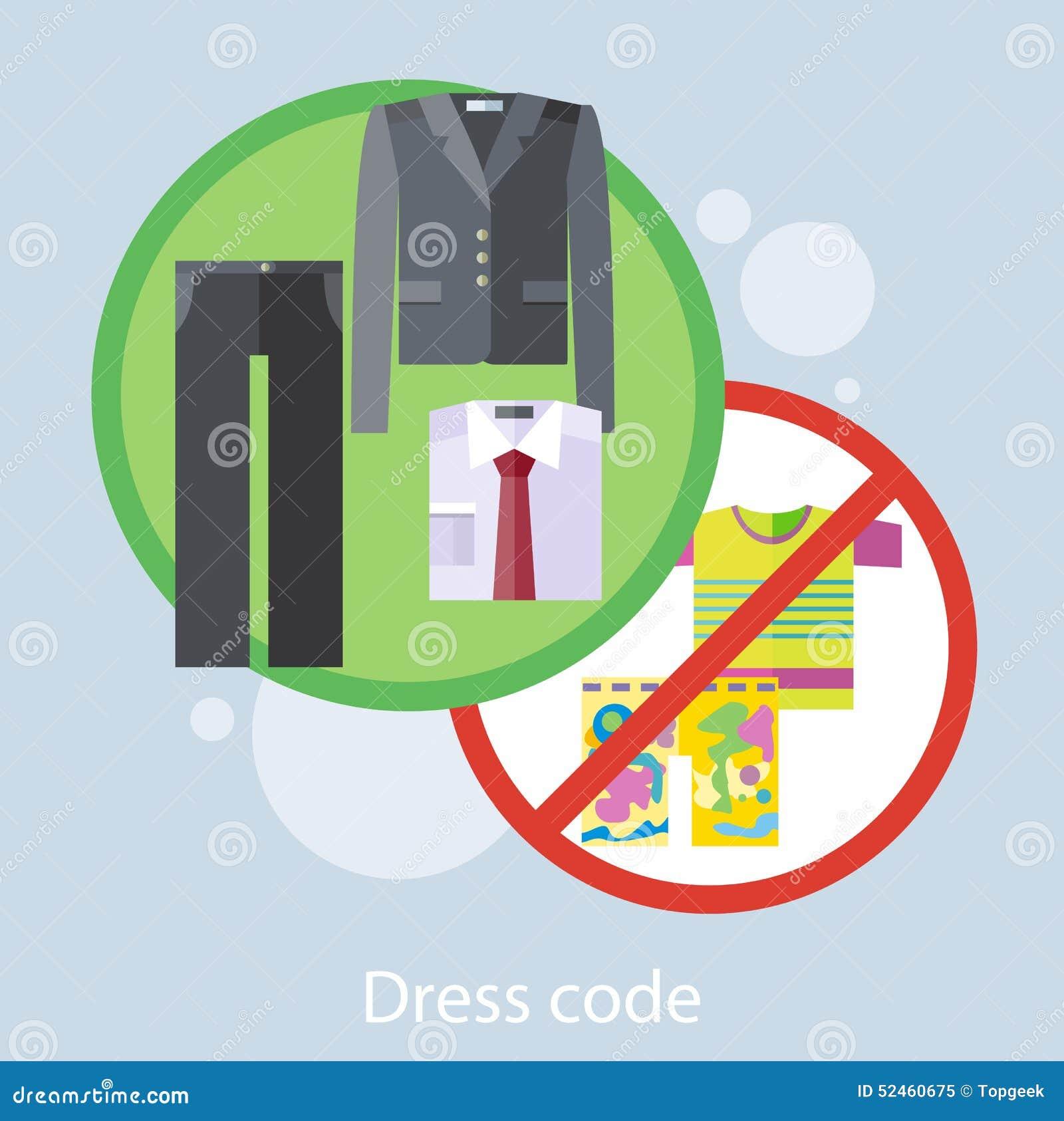 Concept de code vestimentaire illustration de vecteur for Code vestimentaire royal de mariage