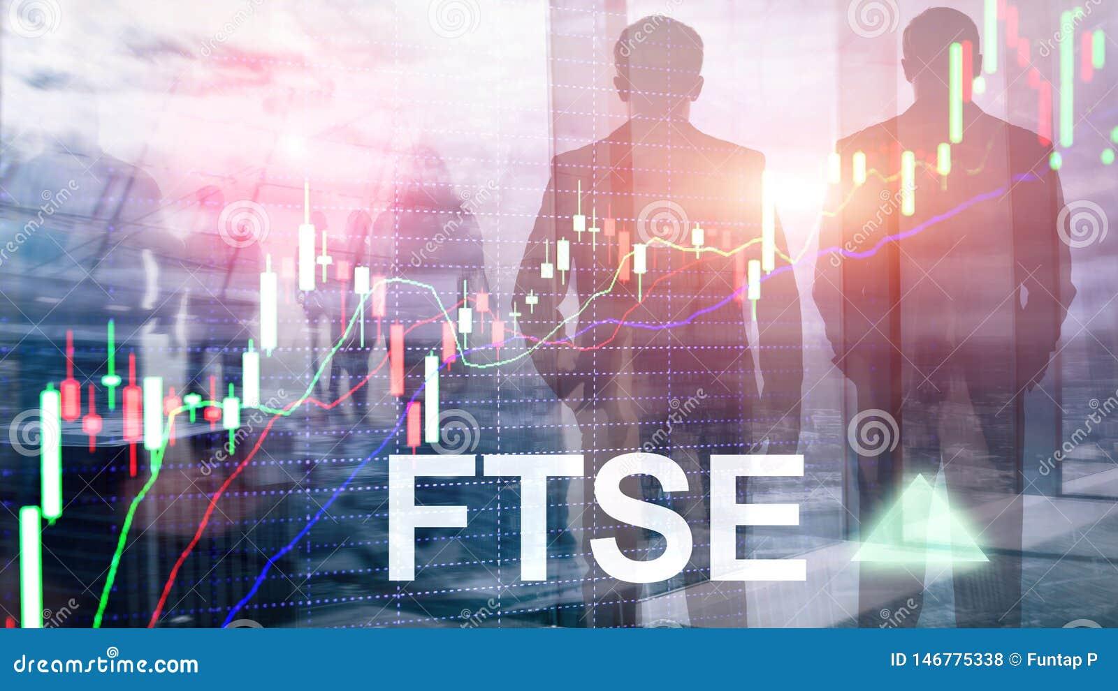 Concept de commerce d investissement du Royaume-Uni R-U Angleterre d index de bourse des valeurs de FTSE 100 Financial Times avec