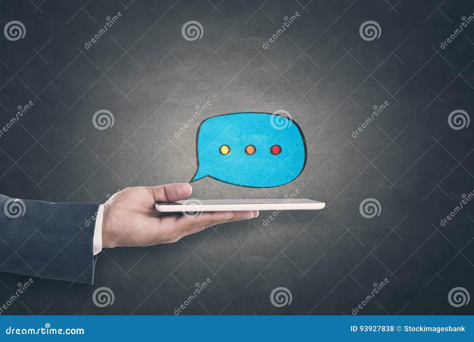 Concept de communication en ligne