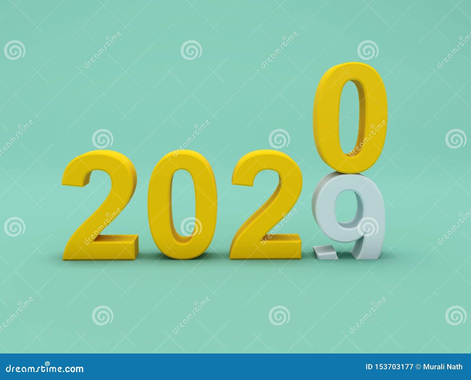 Concept de construction créatif de la nouvelle année 2020