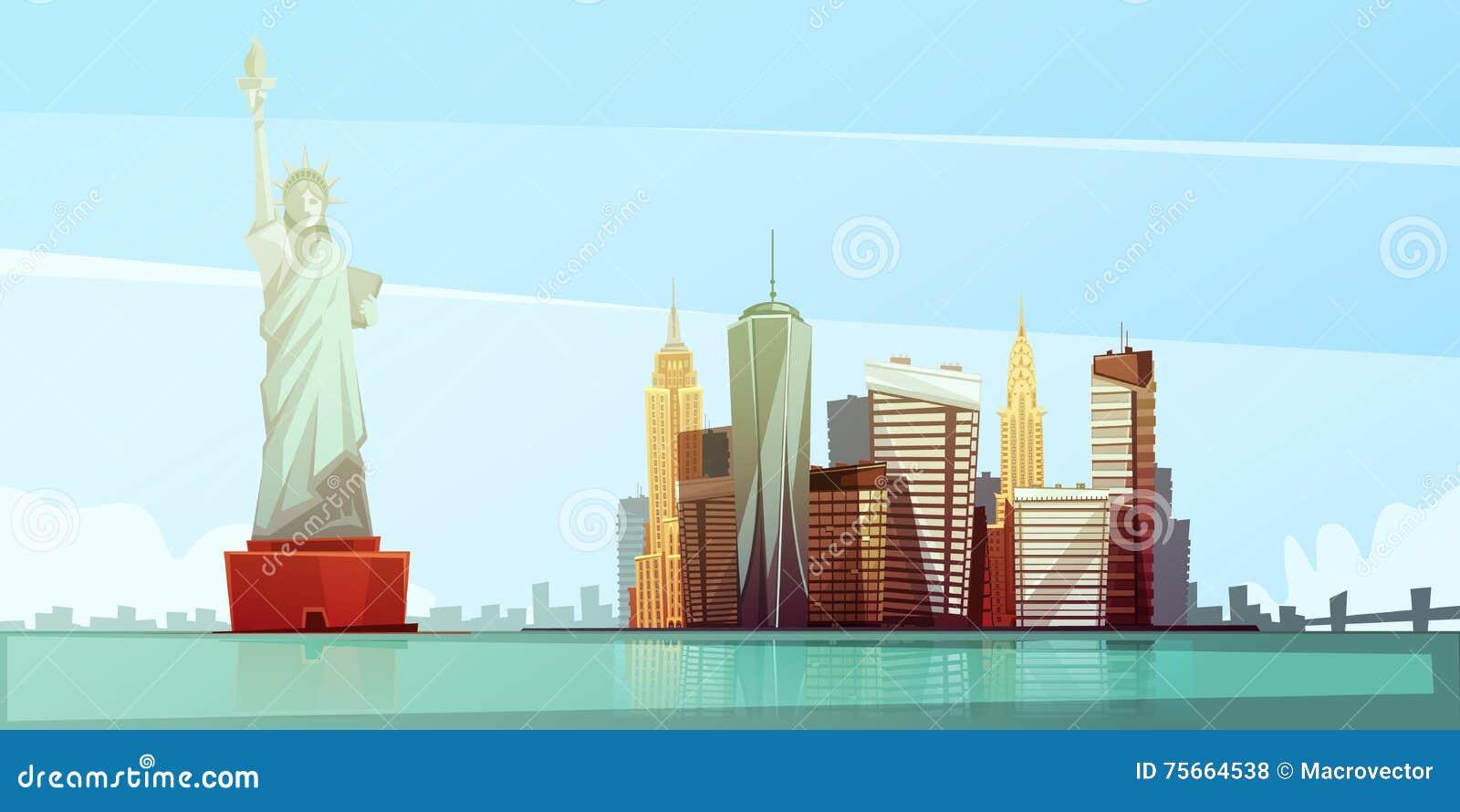 Concept de construction d horizon de New York