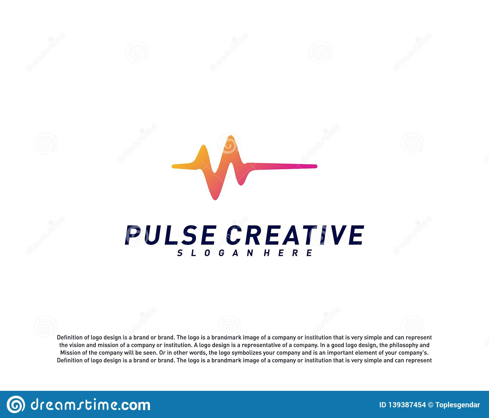 Concept de construction de logo médical d impulsion ou de vague Vecteur de calibre de logo d impulsion de santé Symbole d icône