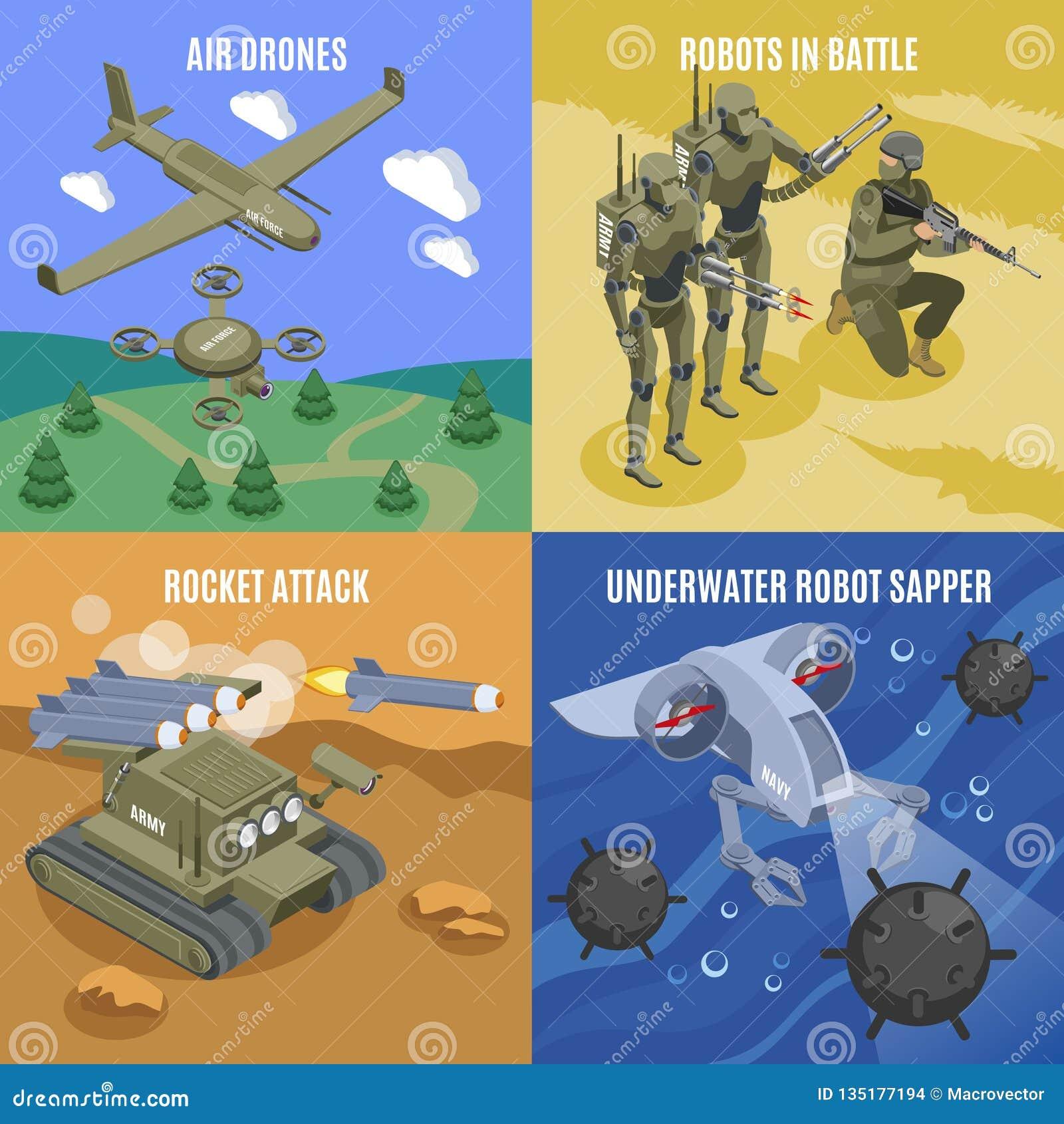 Concept de construction militaire des robots 2x2