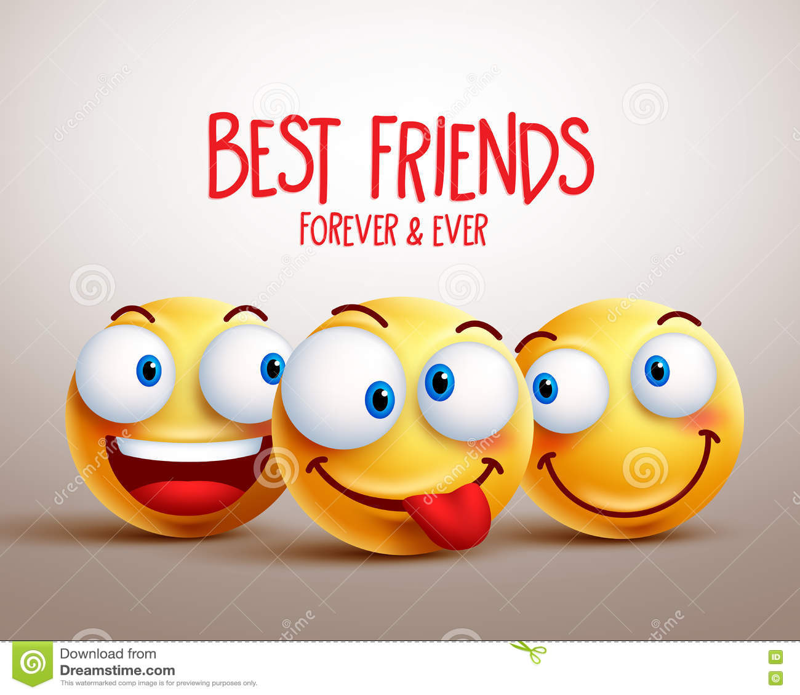 Concept de construction souriant de vecteur de visage de meilleurs amis avec des expressions du visage drôles