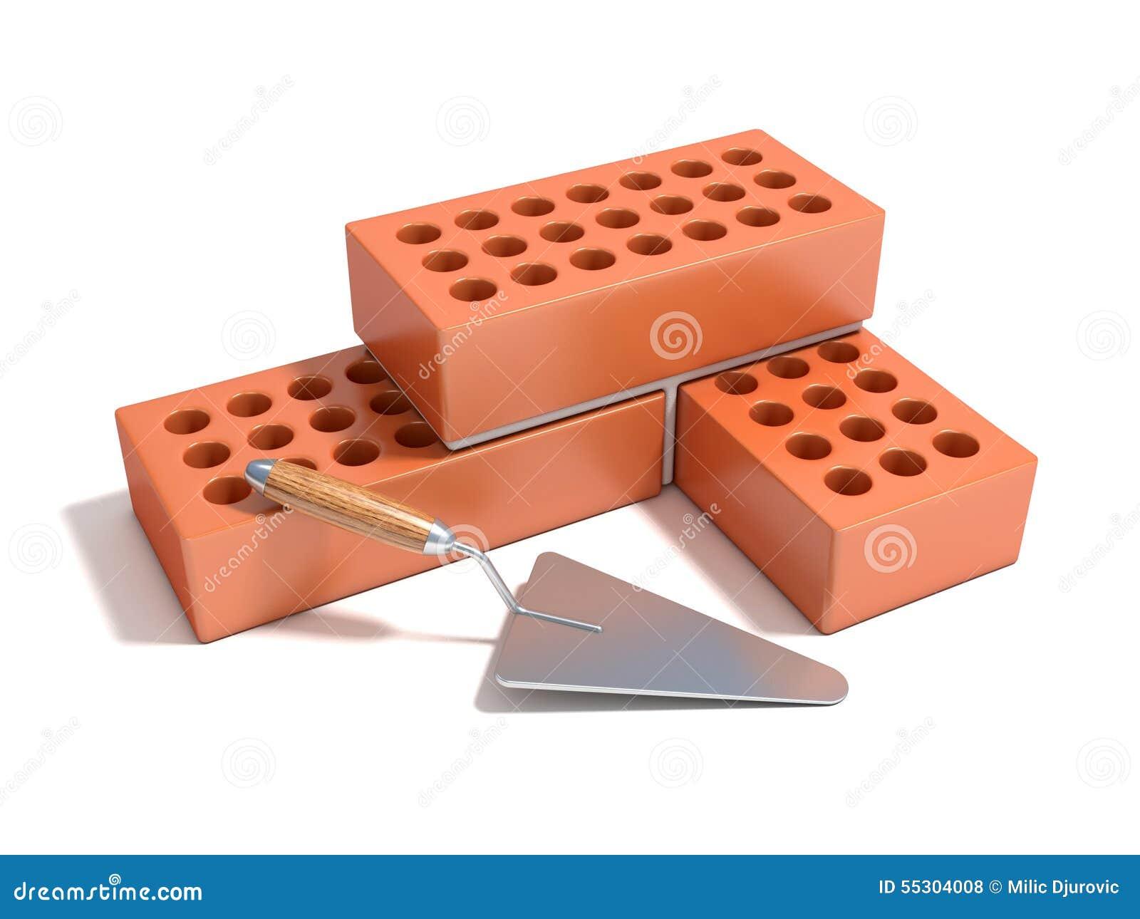Concept de construire le mur de briques illustration stock for Construire mur en brique