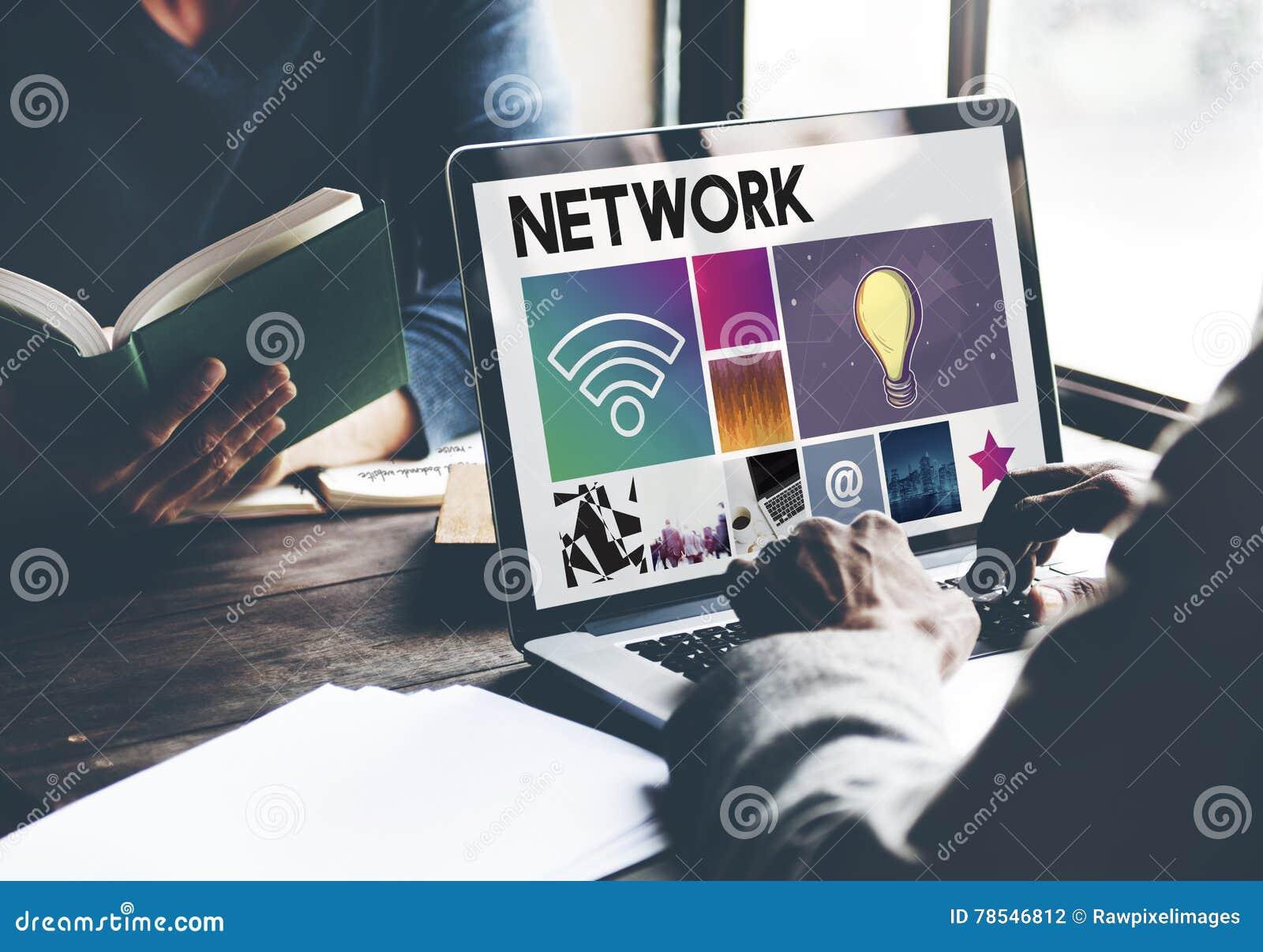 Concept de cyberespace de technologie d idée de réseau