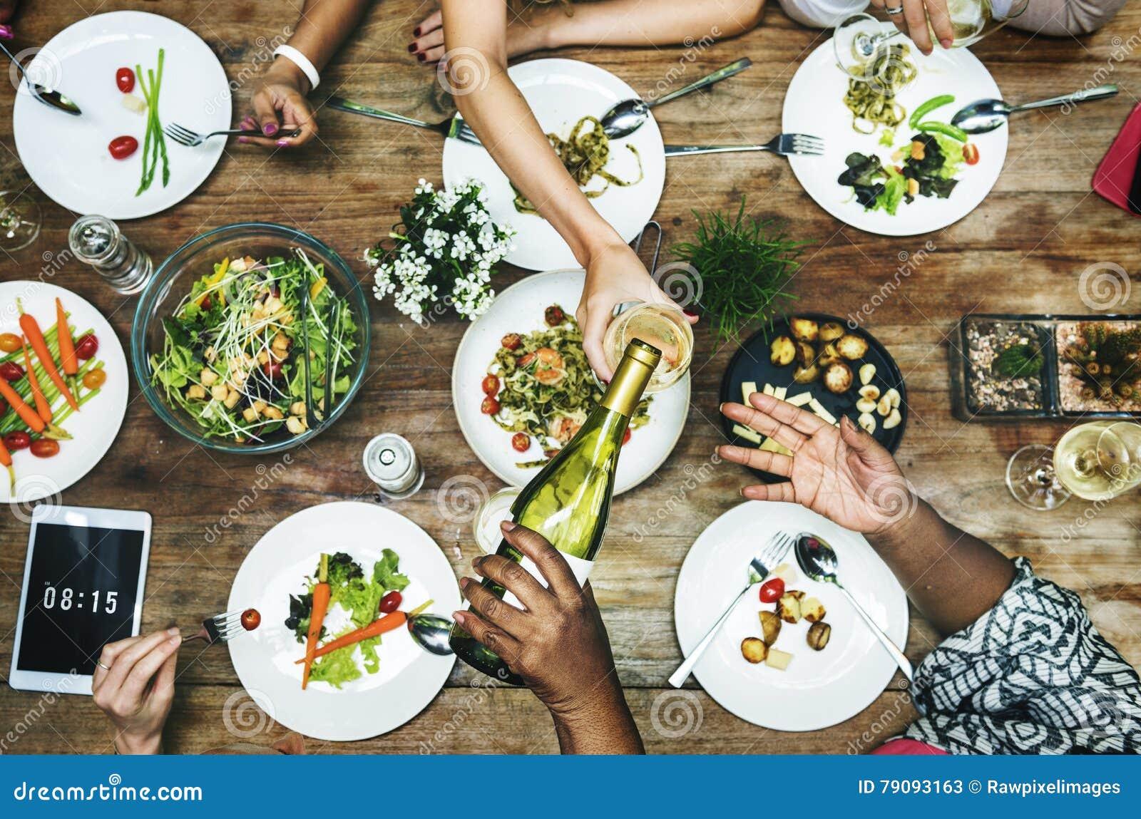 Concept de déjeuner de fin gourmet de partie de restaurant de repas