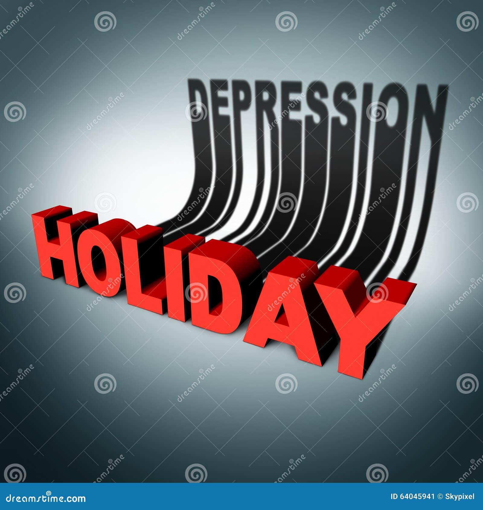 Concept de dépression de vacances