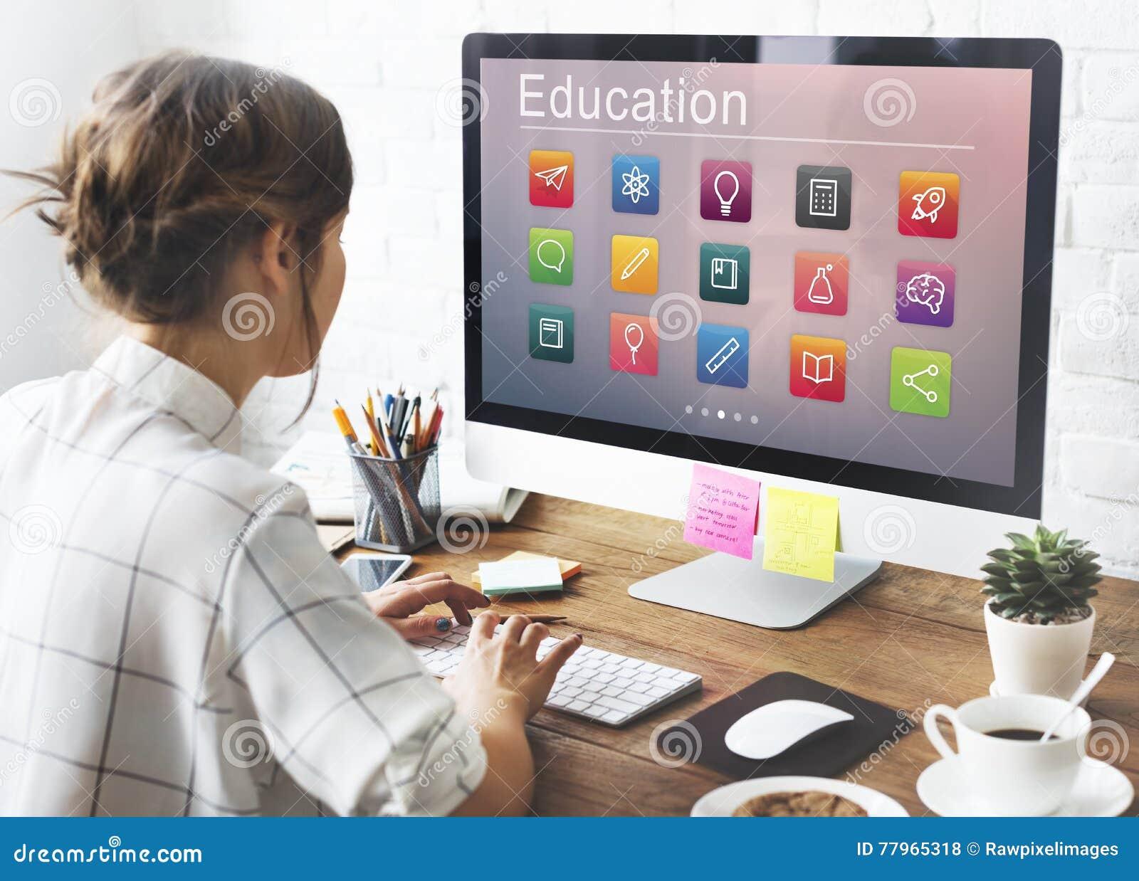 Concept de développement de la connaissance d application d éducation