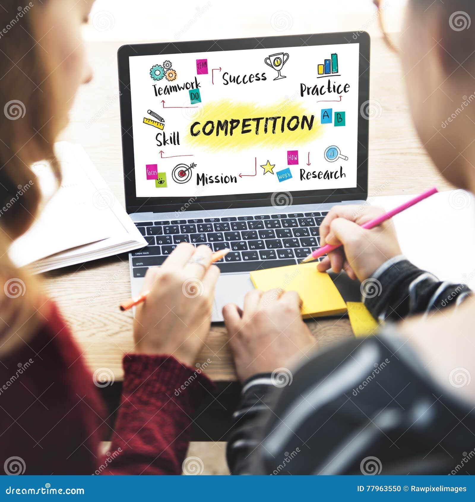 Concept de développement de succès de but de but de concurrence