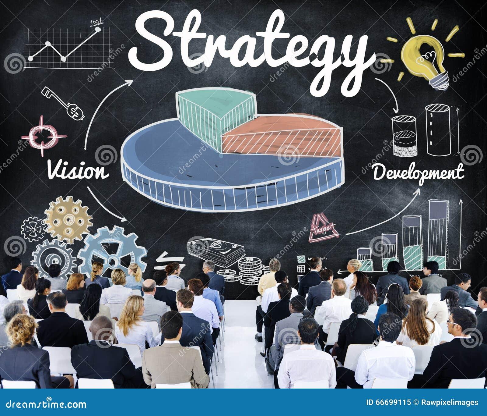 Concept de développement de vision de graphique de gestion de stratégie