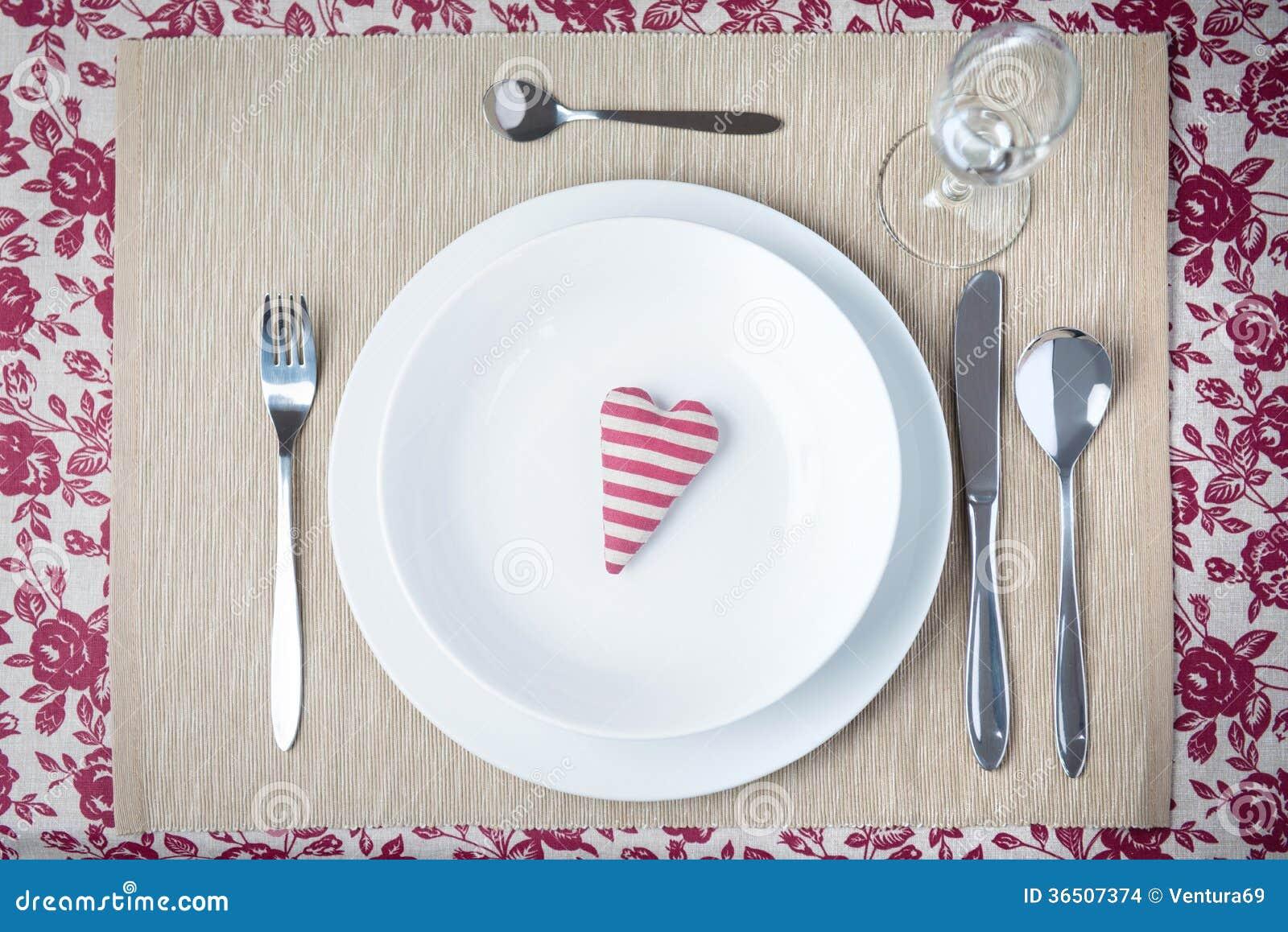 Concept de dîner de Valentine