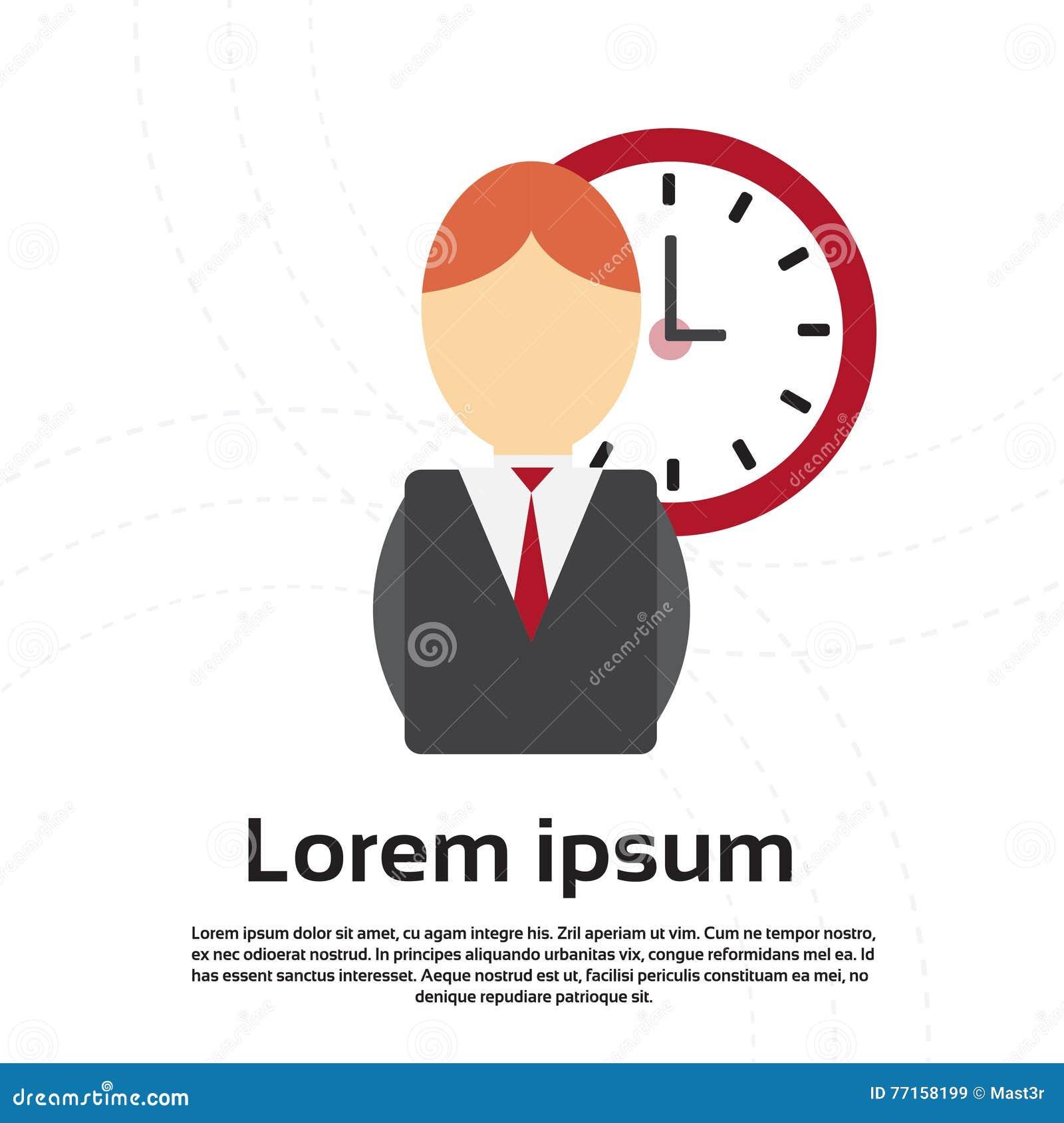 Concept de date-butoir de gestion du temps d horloge d homme d affaires