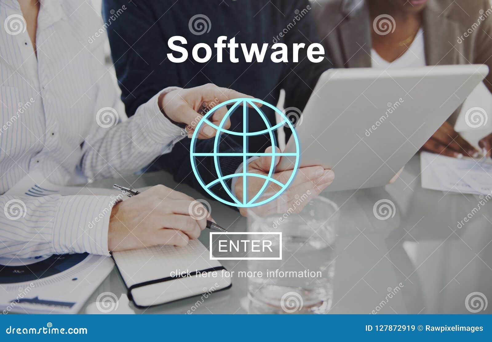 Concept de Digital d Internet de système de l électronique de données de logiciel