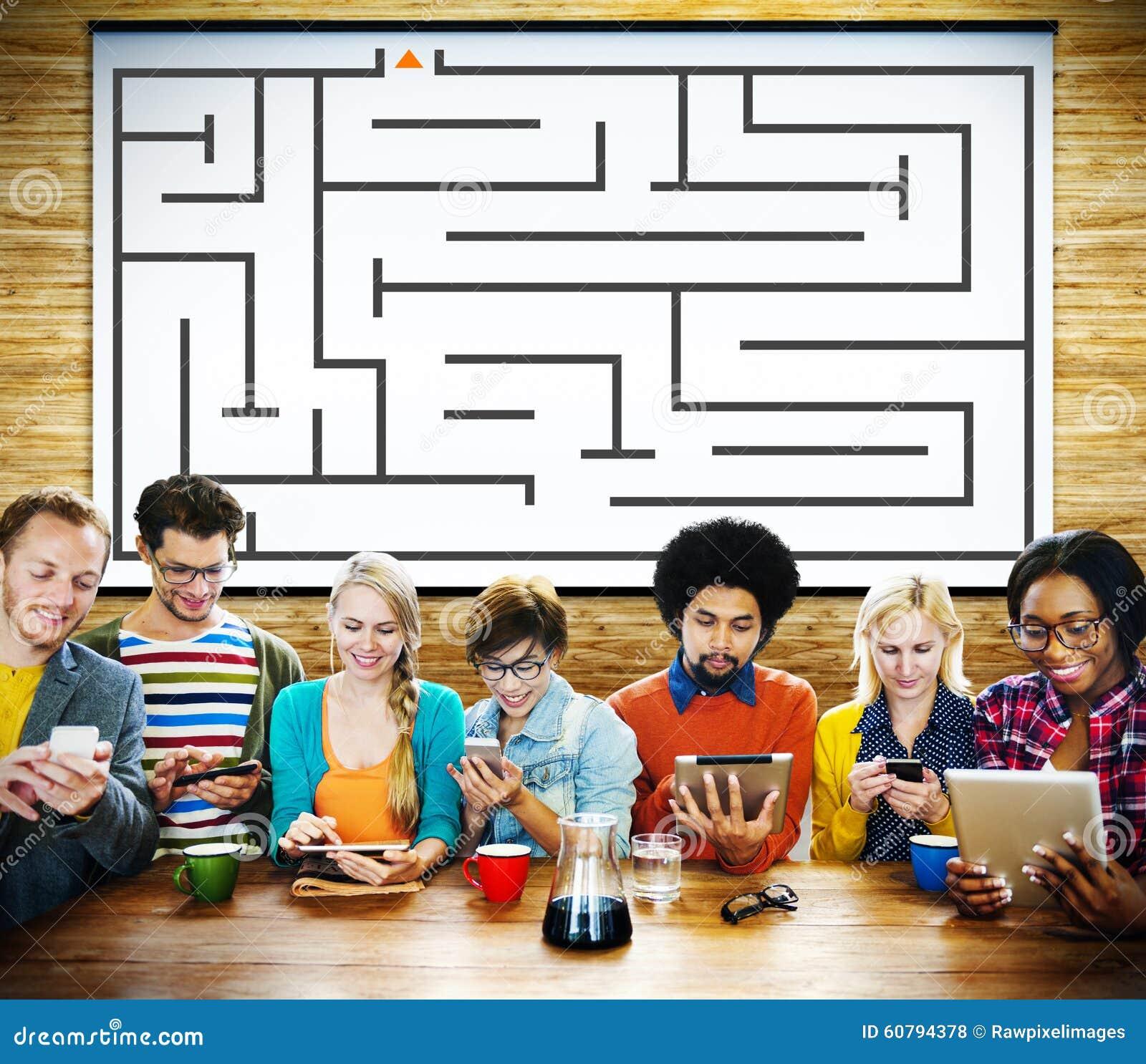 Concept de direction de Maze Strategy Success Solution Determination