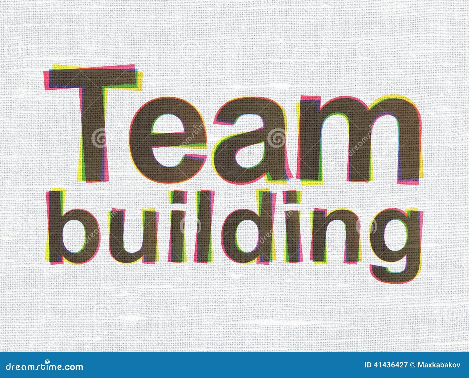 Concept de finances : Team Building sur la texture de tissu