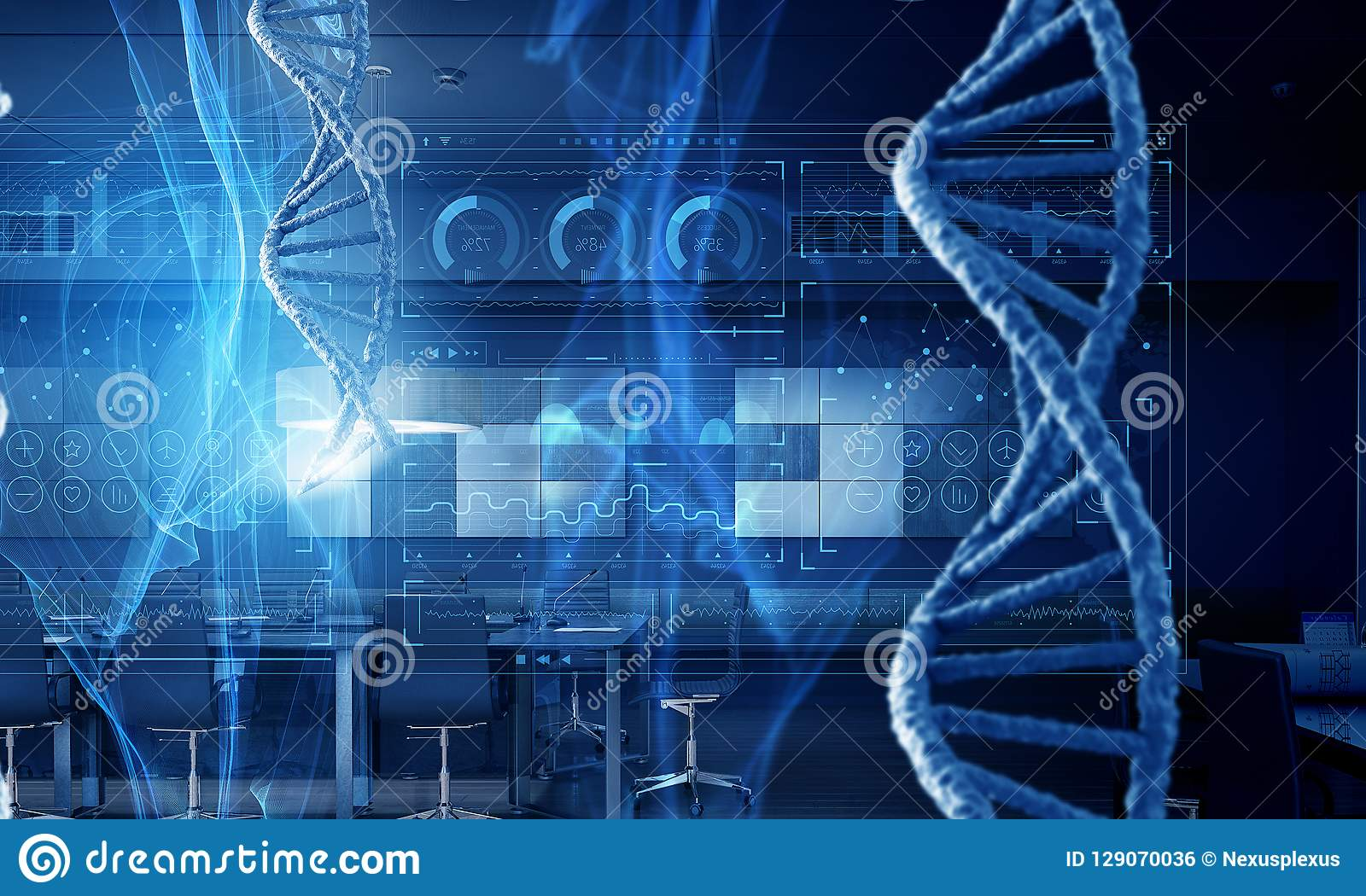 Concept de fond de biotechnologie