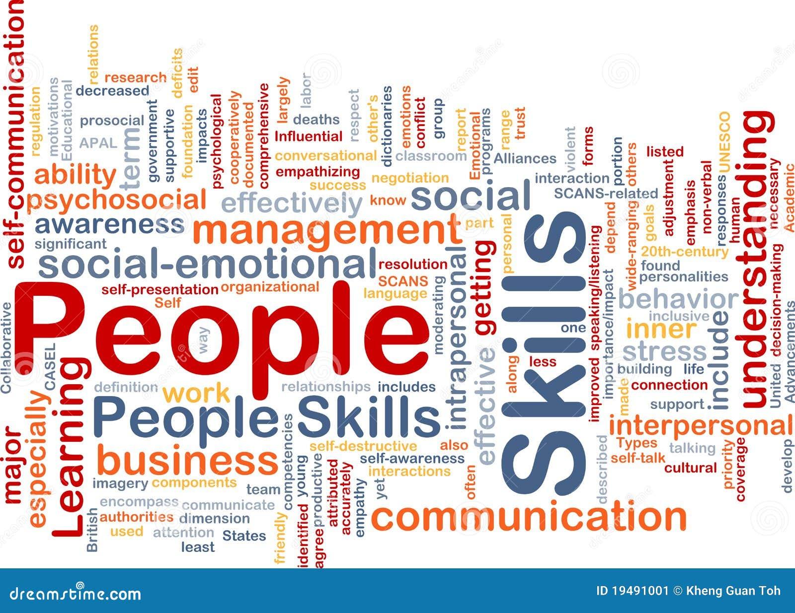 Concept de fond de qualifications de gens