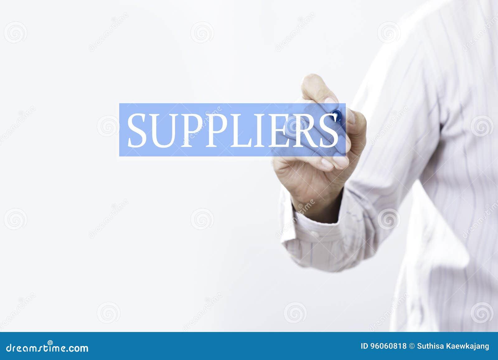 Concept de fournisseurs d aspiration d homme d affaires