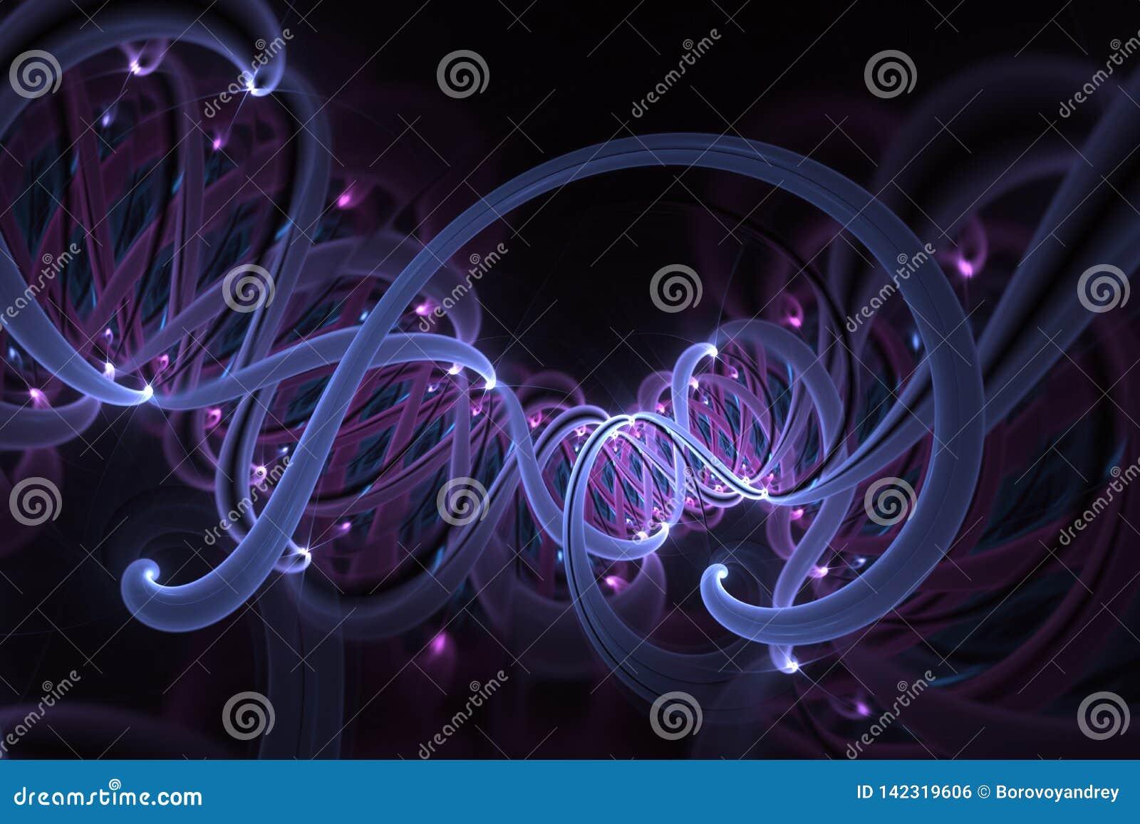 Concept de g?nie g?n?tique et de manipulation de g?ne Mol?cules et chromosomes d h?lice d ADN, brin d ADN, mol?cule ou atome, neu