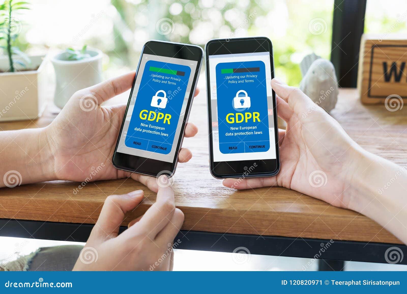 Concept de GDPR Lois de protection des données et règlement ou sécurité et intimité de cyber