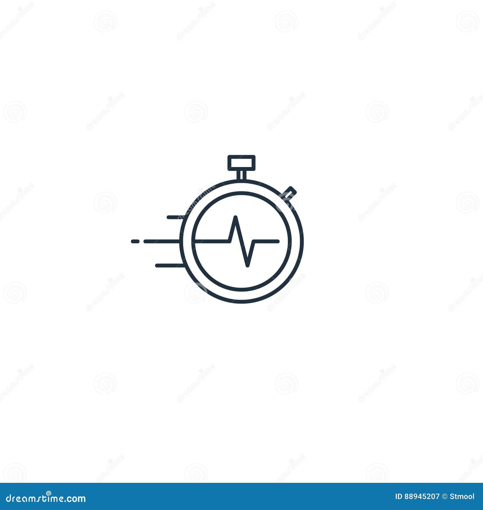 Concept de gestion du temps, icône linéaire de services de distribution rapides
