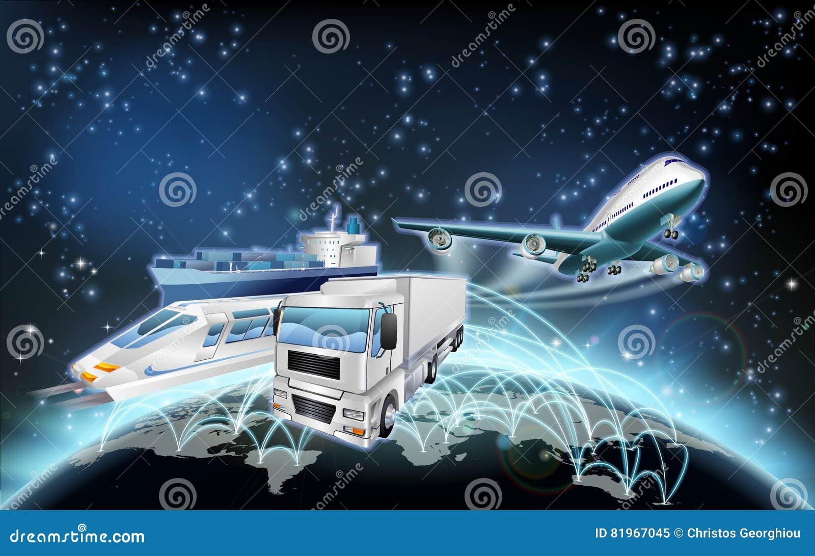 Concept de globe de logistique