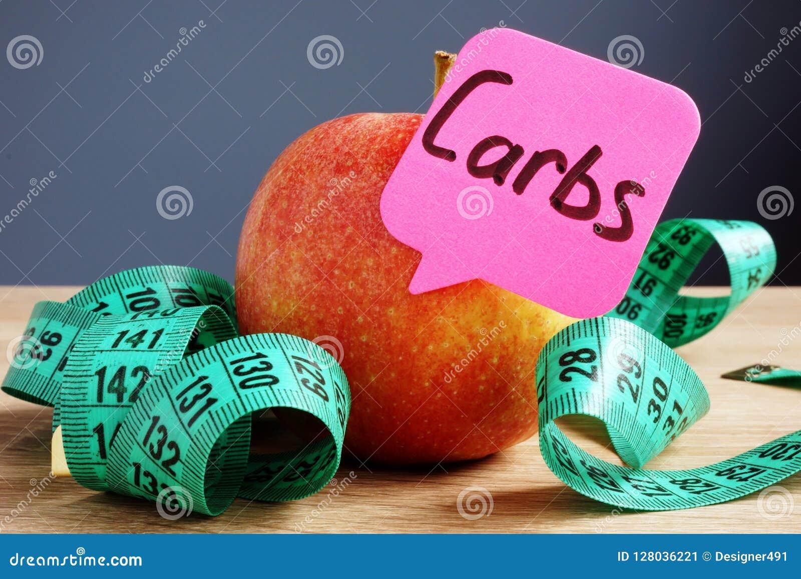 Concept de glucides ou d hydrates de carbone Apple pour le professeur Régimes et nourriture saine
