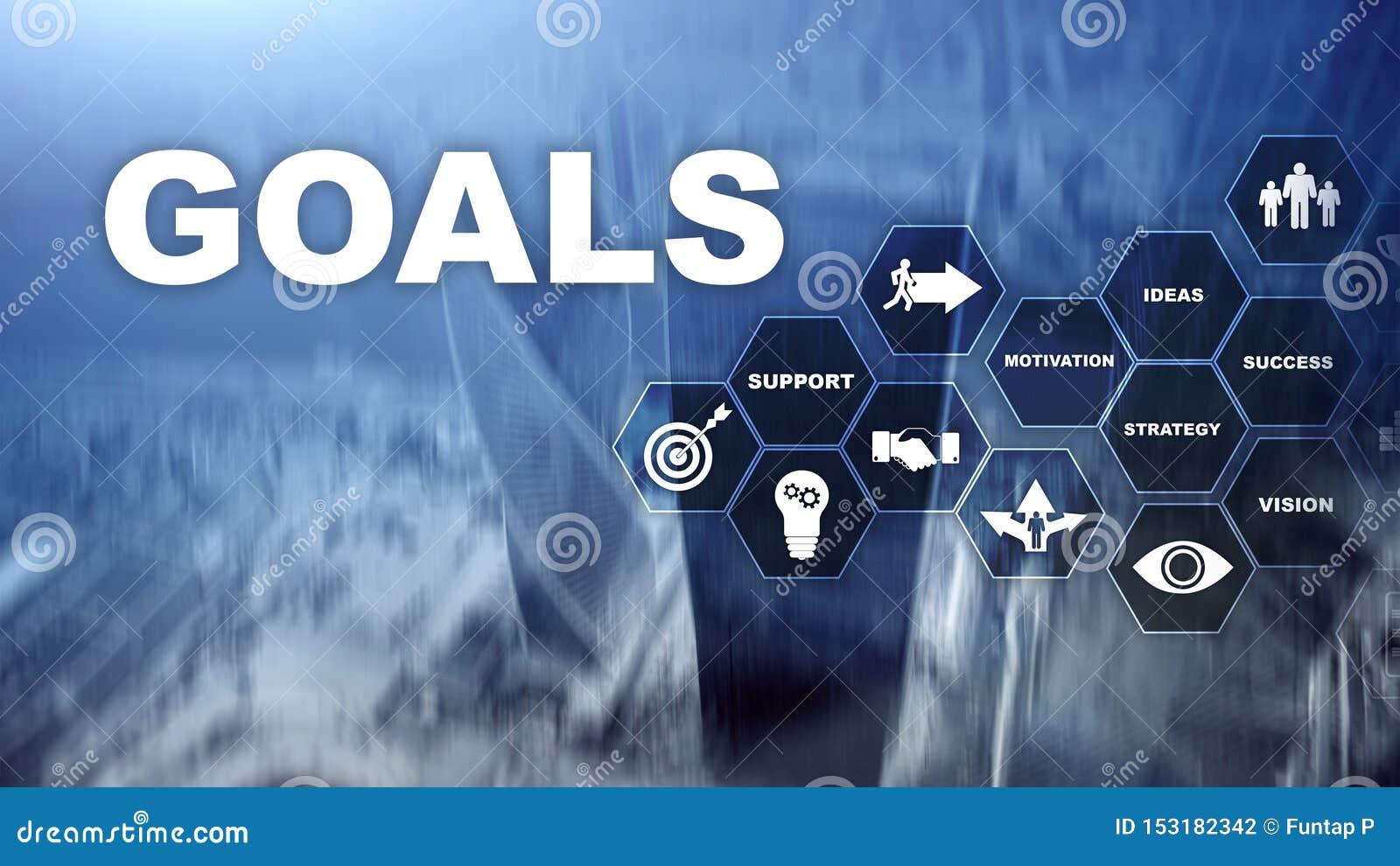 Concept de graphique d accomplissement d attentes de buts de cible E